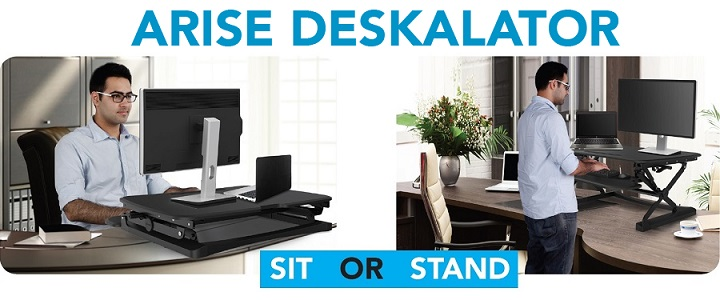 ARISE Deskalator Height Adjustable Sit/Stand Desktop Brochure PDF (Click to download)